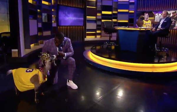 Skip Bayless Won't Give LeBron Credit, So Shannon Sharpe Mocks Him With Live Goat
