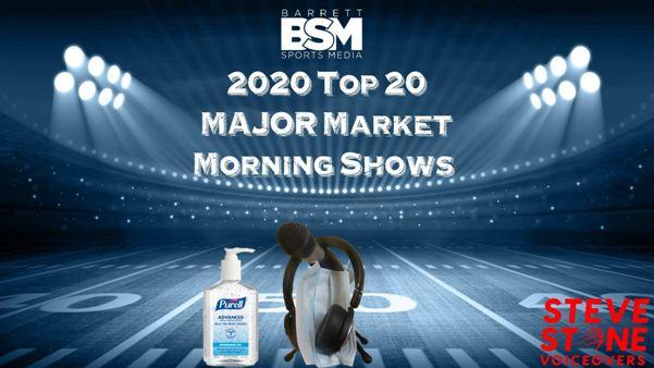 Barrett Sports Media's Top 20 Major Market Sports Radio Morning Shows of 2020