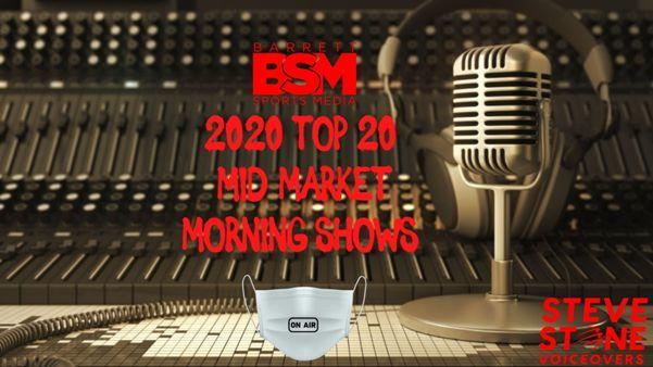 Barrett Sports Media's Top 20 Mid Market Sports Radio Morning Shows of 2020
