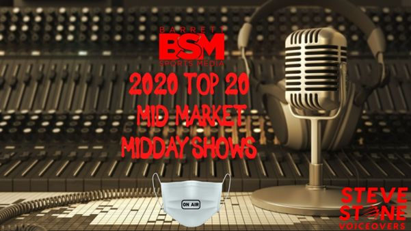 Barrett Sports Media's Top 20 Mid Market Midday Sports Radio Shows of 2020